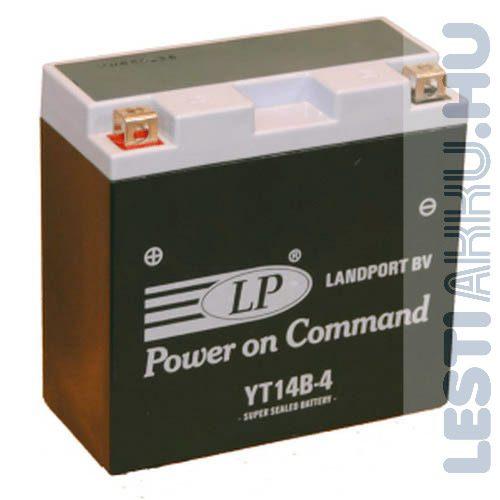 Landport Motor Akkumulátor YT14B-4 12V 12Ah 210A Bal+