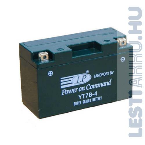 Landport Motor Akkumulátor YT7B-4  12V 7Ah Bal+