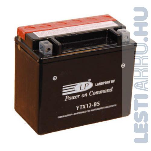 Landport Motor Akkumulátor YTX12-BS 12V 10Ah Bal+