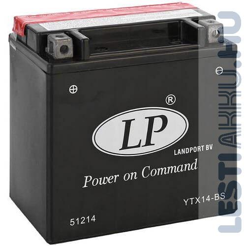 Landport Motor Akkumulátor YTX14-BS 12V 12Ah Bal+