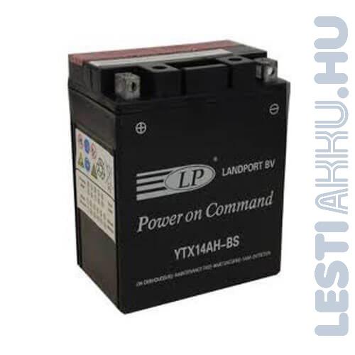 Landport Motor Akkumulátor YTX14AH-BS 12V 12Ah 200A Bal+