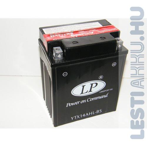 Landport Motor Akkumulátor YTX14AHL-BS 12V 12Ah 200A Jobb+