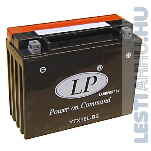 Landport Motor Akkumulátor YTX18L-BS 12V 18Ah Jobb+