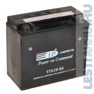 Landport Motor Akkumulátor YTX20-BS 12V 18Ah 250A Bal+