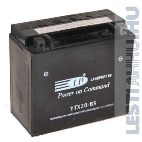 Landport Motor Akkumulátor YTX20-BS 12V 18Ah Bal+