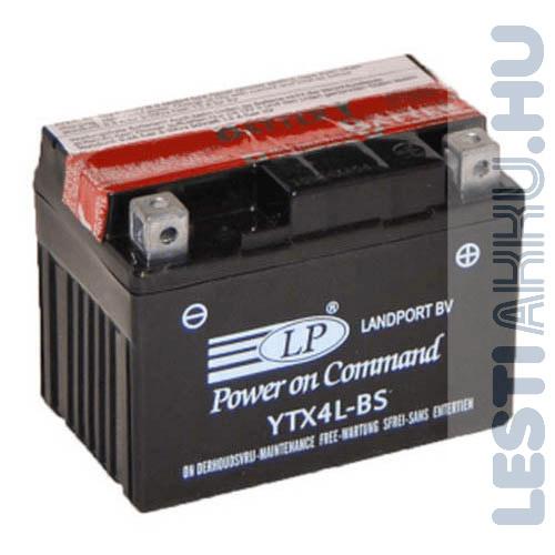 Landport Motor Akkumulátor YTX4L-BS 12V 3Ah 40A Jobb+
