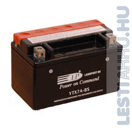 Landport Motor Akkumulátor YTX7A-BS 12V 6Ah 105A Bal+