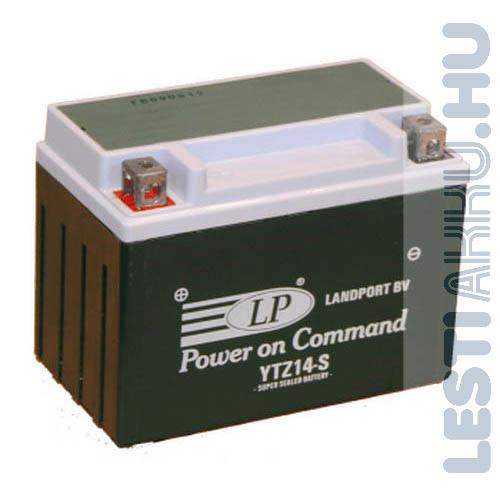 Landport Motor Akkumulátor YTZ14-S 12V 11Ah 230A Bal+