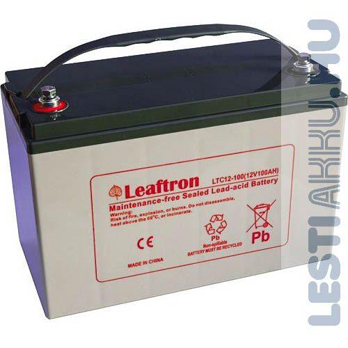 Leaftron ciklikus zselés AGM takarítógép akkumulátor 12V 100Ah bal+ (LTC12-100)