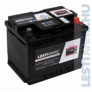 LESTI AKKU PREMIUM AGM Autó Akkumulátor 12V 60Ah 660A Jobb+