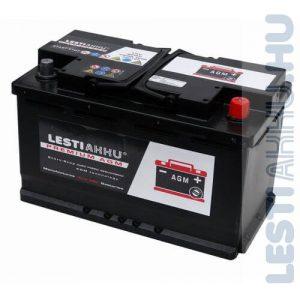 LESTI AKKU PREMIUM AGM Autó Akkumulátor 12V 80Ah 760A Jobb+