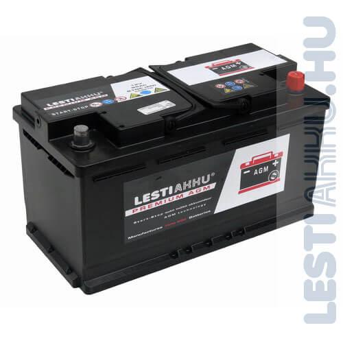 LESTI AKKU PREMIUM AGM Autó Akkumulátor 12V 95Ah 810A Jobb+
