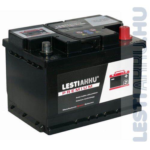 LESTI AKKU PREMIUM Autó Akkumulátor 12V 55Ah 480A Jobb+