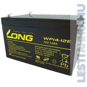 Long 12V 14Ah (6-DZM-12) Elektromos kerékpár akkumulátor