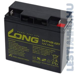 Long 12V 18Ah Elektromos kerékpár akkumulátor