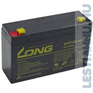 Long 6V 12Ah Elektromos játék akkumulátor