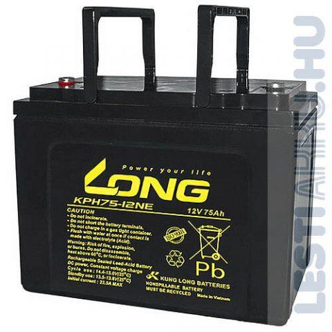 Long Globe 12V 75Ah Kerekesszék Akkumulátor