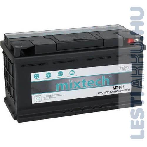 Mixtech Autó Akkumulátor 12V 105Ah 900A Jobb+