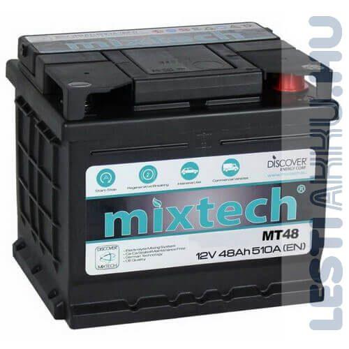 Mixtech Autó Akkumulátor 12V 48Ah 510A Jobb+