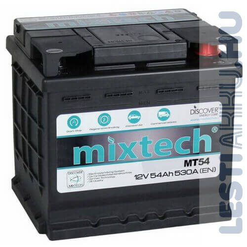 Mixtech Autó Akkumulátor 12V 54Ah 530A Jobb+