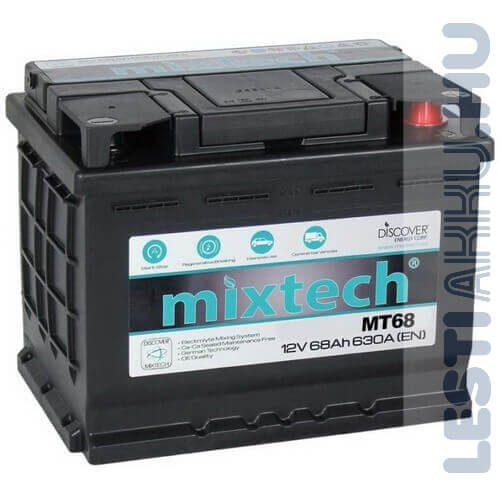 Mixtech Autó Akkumulátor 12V 68Ah 630A Jobb+