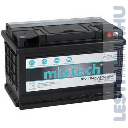 Mixtech Autó Akkumulátor 12V 72Ah 720A Jobb+