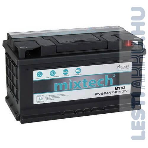 Mixtech Autó Akkumulátor 12V 82Ah 740A Jobb+