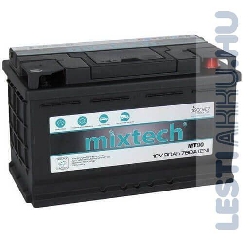 Mixtech Autó Akkumulátor 12V 90Ah 780A Jobb+