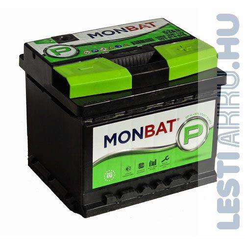 MONBAT P Series Autó Akkumulátor 12V 53Ah 450A Jobb+