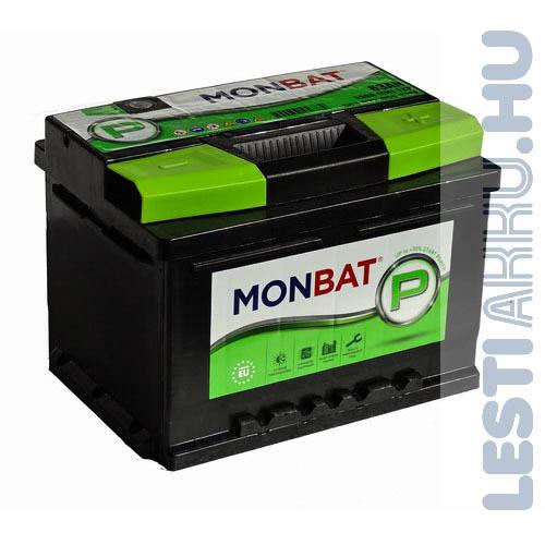 MONBAT P Series Autó Akkumulátor 12V 63Ah 550A Jobb+