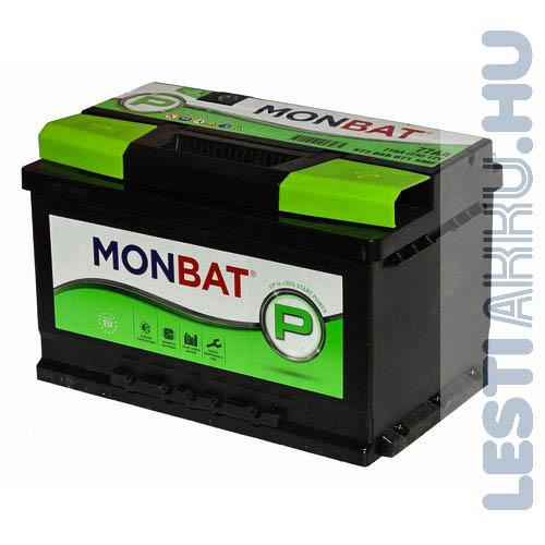 MONBAT P Series Autó Akkumulátor 12V 77Ah 710A Jobb+