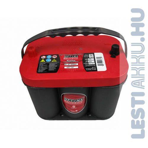 OPTIMA Red Top 4.2 Autó Akkumulátor 12V 50Ah 815A Közép Bal+