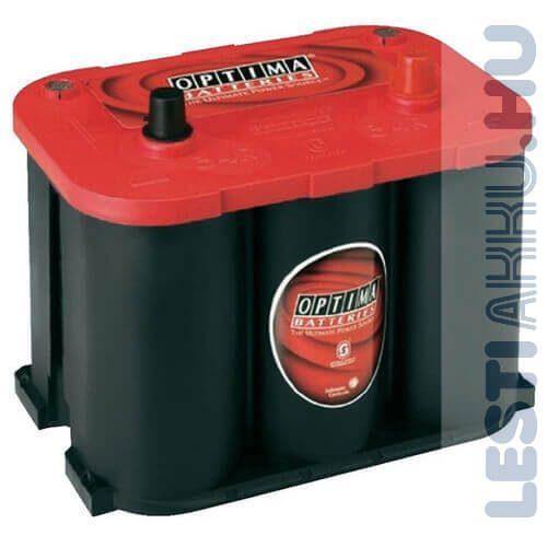 OPTIMA Red Top 4.2 Autó Akkumulátor 12V 50Ah 815A Talplefogatás Jobb+