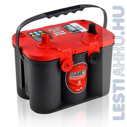 OPTIMA Red Top 4.2 Autó Akkumulátor 12V 50Ah 815A Oldalcsavaros Bal+