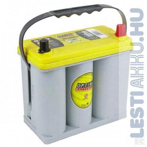 OPTIMA Yellow Top Autó Akkumulátor 12V 38Ah 460A Japán Vastagsarus Jobb+