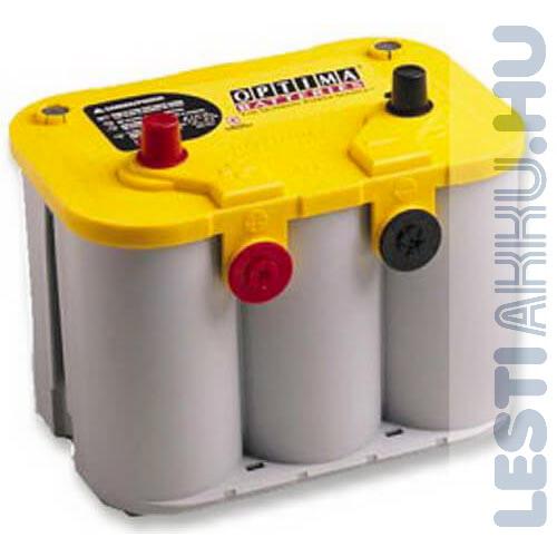 OPTIMA Yellow Top Autó Akkumulátor 12V 55Ah 765A Bal+