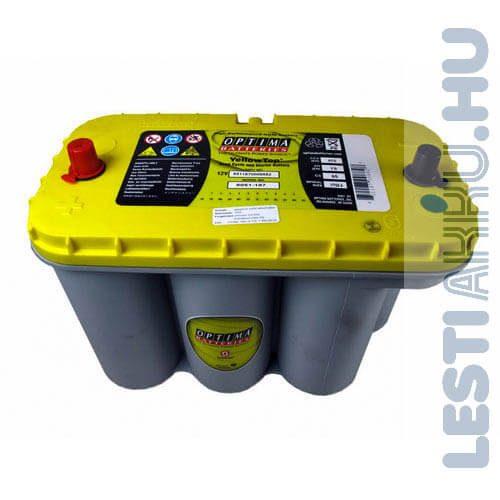 OPTIMA Yellow Top Autó Akkumulátor 12V 75Ah 975A Közép Bal+
