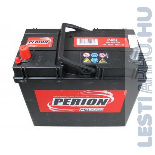 PERION Autó Akkumulátor 12V 45Ah 330A Japán Bal+ (5451570337482)