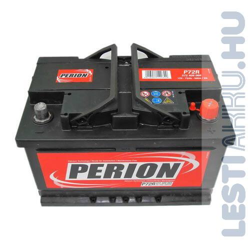 PERION Autó Akkumulátor 12V 72Ah 680A Jobb+ (5724090687482)