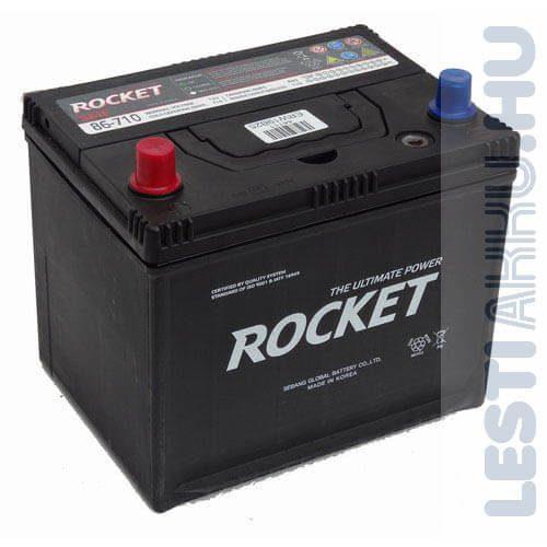 ROCKET Autó Akkumulátor 12V 66Ah 710A Lacetti Bal+ (SMF86-710)