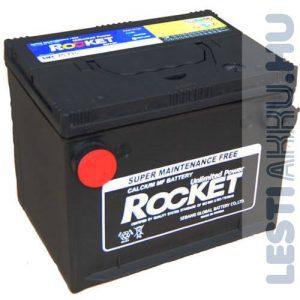 ROCKET Autó Akkumulátor 12V 66Ah 710A Oldalcsavaros Bal+ (SMF75-710)
