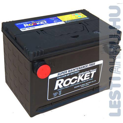 ROCKET Autó Akkumulátor 12V 74Ah 780A Oldalcsavaros Bal+ (SMF78-780)