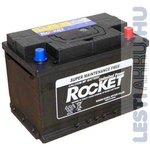 ROCKET Autó Akkumulátor 12V 78Ah 660A Jobb+ (SMF57820)