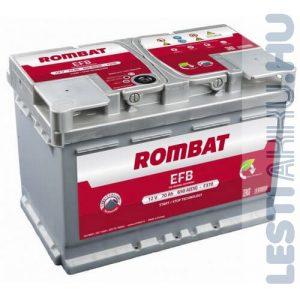 ROMBAT EFB Autó Akkumulátor 12V 70Ah 650A Jobb+