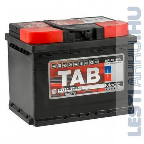 TAB Magic Autó Akkumulátor 12V 66Ah 640A Jobb+