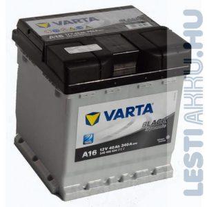 VARTA A16 Black Dynamic Autó Akkumulátor 12V 40Ah 340A Punto Jobb+ (540406034)