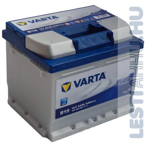 VARTA B18 Blue Dynamic Autó Akkumulátor 12V 44Ah 440A Jobb+ (544402044)