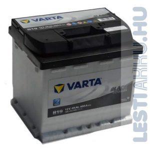 VARTA B19 Black Dynamic Autó Akkumulátor 12V 45Ah 400A Jobb+ (545412040)