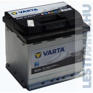 VARTA B20 Black Dynamic Autó Akkumulátor 12V 45Ah 400A Bal+ (545413040)