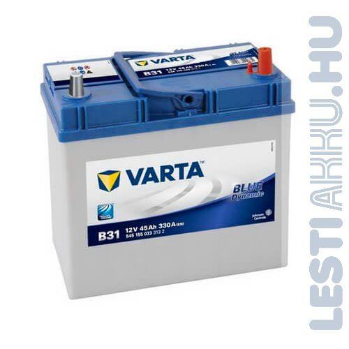 VARTA B31 Blue Dynamic Autó Akkumulátor 12V 45Ah 330A Japán Jobb+ (545155033)